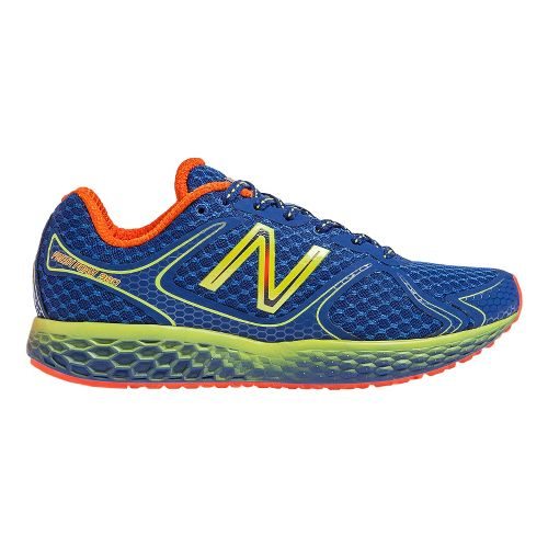 Mens New Balance Fresh Foam 980 Running Shoe - Blue/Yellow 7.5