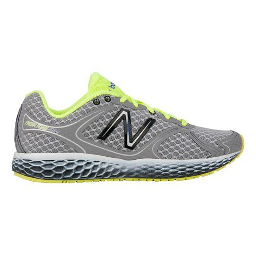 Mens New Balance Fresh Foam 980 Running Shoe - Silver/Yellow 7.5