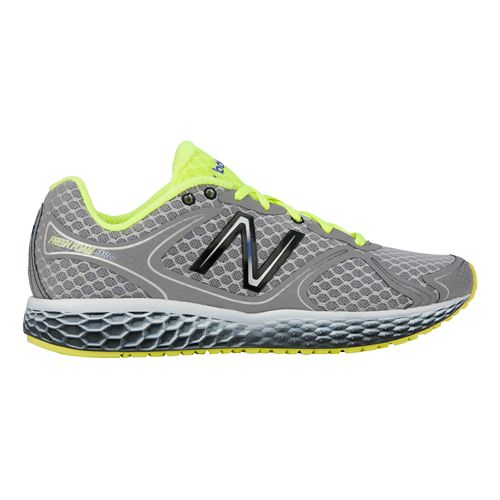 Mens New Balance Fresh Foam 980 Running Shoe - Silver/Yellow 8