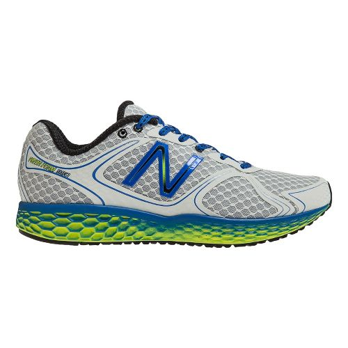 Mens New Balance Fresh Foam 980 Running Shoe - White/Cobalt 8.5