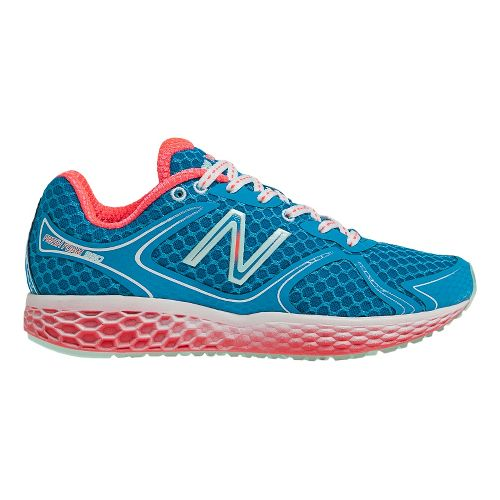 Womens New Balance Fresh Foam 980 Running Shoe - Blue/Orange 7.5