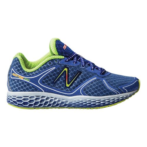 Womens New Balance Fresh Foam 980 Running Shoe - Blue/Yellow 7.5