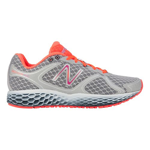 Womens New Balance Fresh Foam 980 Running Shoe - Silver/Coral 7.5