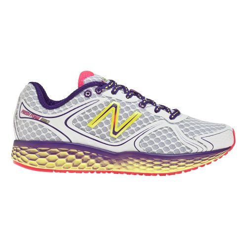 Womens New Balance Fresh Foam 980 Running Shoe - Silver/Purple 12
