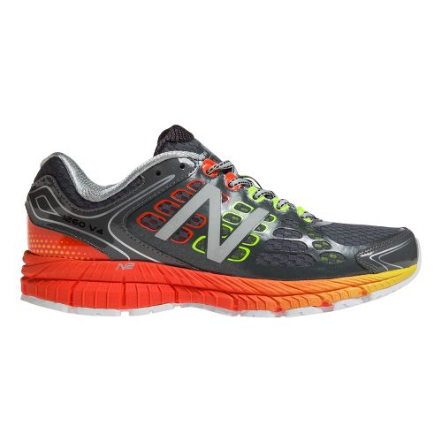Mens New Balance 1260v4 Running Shoe - Grey/Orange 12