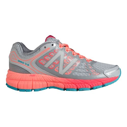 Womens New Balance 1260v4 Running Shoe - Grey/Coral 11