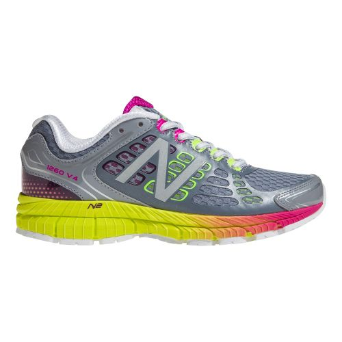 Womens New Balance 1260v4 Running Shoe - Grey/Yellow 11