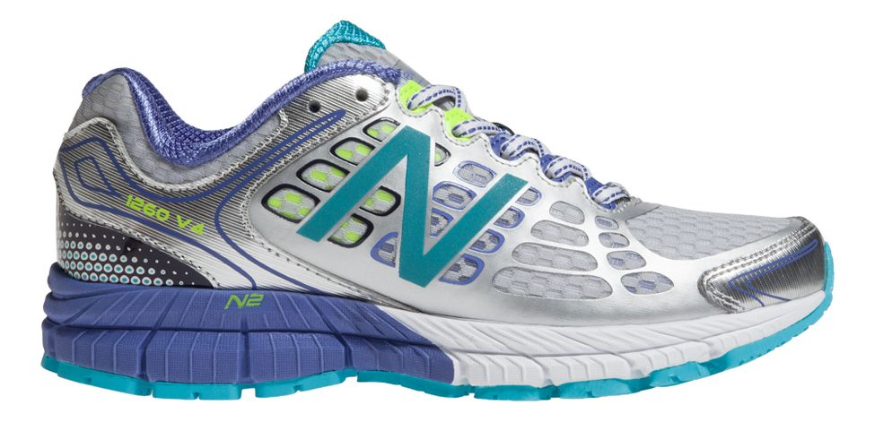 Womens New Balance 1260v4 Running Shoe - Silver/Blue 6