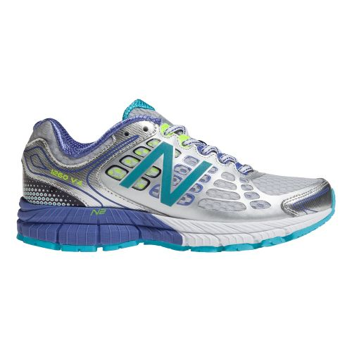 Womens New Balance 1260v4 Running Shoe - Silver/Blue 9.5