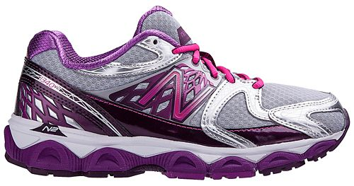 Womens New Balance 1340v2 Running Shoe - Silver/Pink 7.5