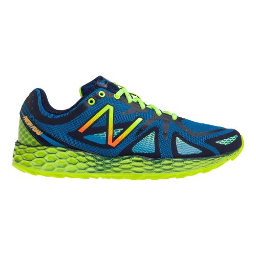 Mens New Balance Fresh Foam 980 Trail Trail Running Shoe - Blue/Yellow 11.5