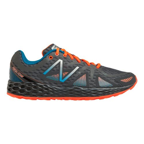 Mens New Balance Fresh Foam 980 Trail Trail Running Shoe - Grey/Orange 10.5