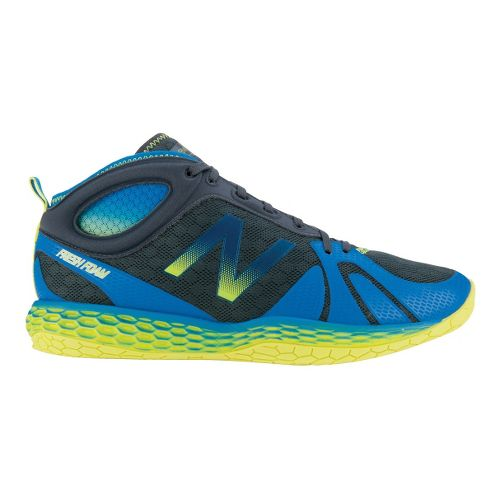 Mens New Balance Fresh Foam 80 Trainer Cross Training Shoe - Blue/Yellow 7.5