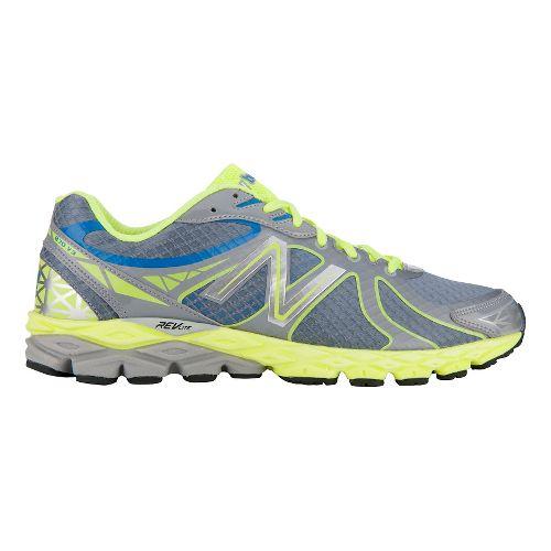 Mens New Balance 870v3 Glow Running Shoe - Grey/Yellow 12.5