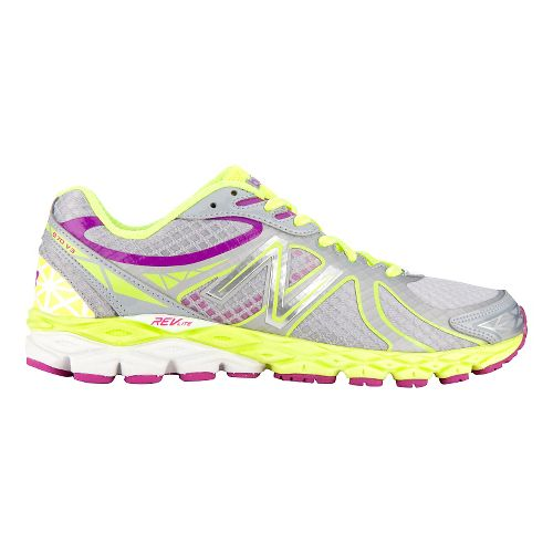 Womens New Balance 870v3 Glow Running Shoe - Grey/Yellow 9.5