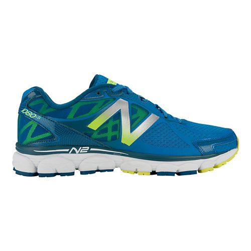 Mens New Balance 1080v5 Running Shoe - Blue/Yellow 12.5