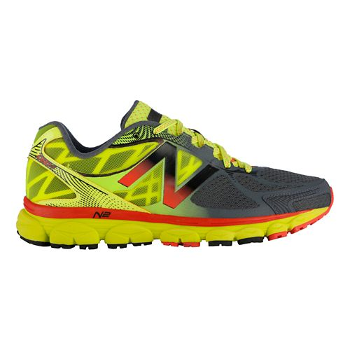 Mens New Balance 1080v5 Running Shoe - Orange/Titanium 13