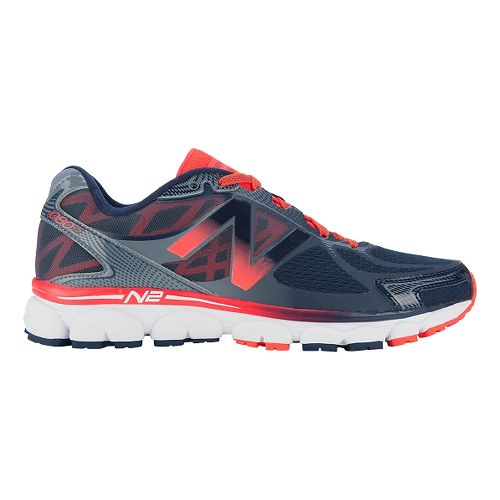 Mens New Balance 1080v5 Running Shoe - Orange/Blue 15
