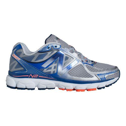 Mens New Balance 1080v5 Running Shoe - Silver/Blue 12.5