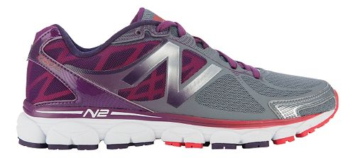 Womens New Balance 1080v5 Running Shoe - Grey/Purple 6