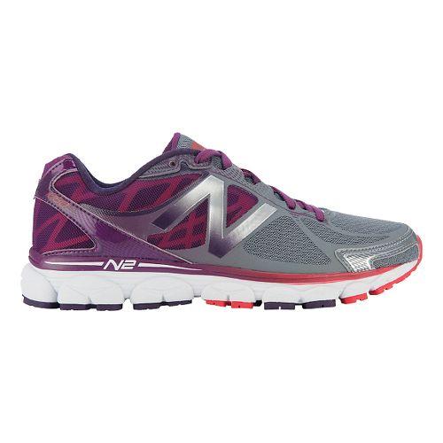Womens New Balance 1080v5 Running Shoe - Grey/Purple 5.5