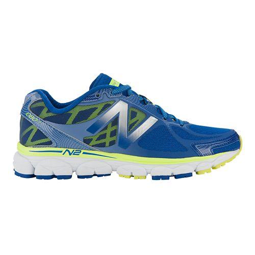 Womens New Balance 1080v5 Running Shoe - Blue/Yellow 8