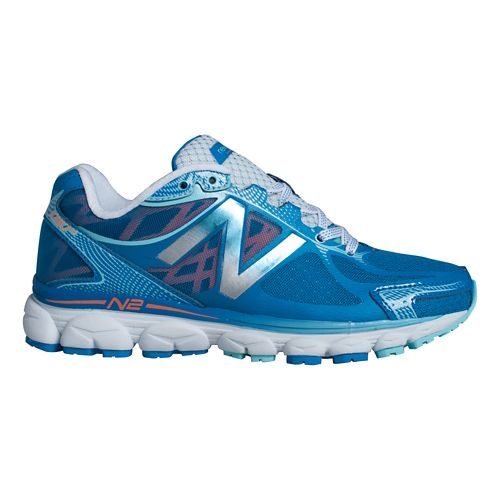 Womens New Balance 1080v5 Running Shoe - Blue/Silver 5.5