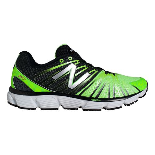 Mens New Balance 890v5 Running Shoe - Grey/Green 14