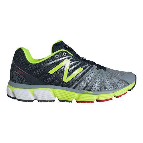 Mens New Balance 890v5 Running Shoe - Grey/Yellow 7.5