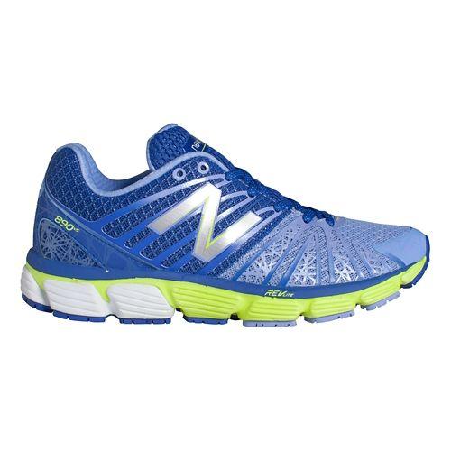 Womens New Balance 890v5 Running Shoe - Blue/Hi-Lite 5.5