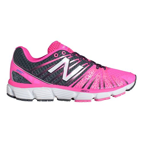 Womens New Balance 890v5 Running Shoe - Pink/White 11