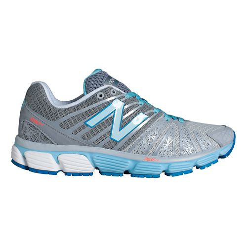 Womens New Balance 890v5 Running Shoe - Silver/Blue 7.5