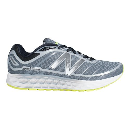 Mens New Balance Fresh Foam Boracay Running Shoe - Grey/Silver 8.5