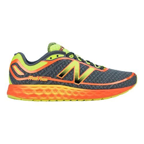 Mens New Balance Fresh Foam Boracay Running Shoe - Grey/Yellow 10