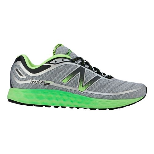 Mens New Balance Fresh Foam Boracay Running Shoe - Grey/Green 7.5