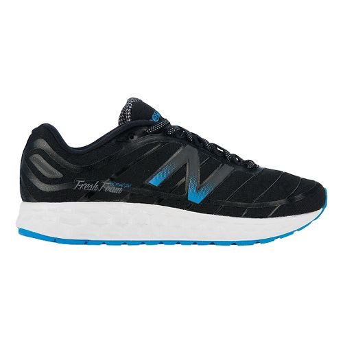 Mens New Balance Fresh Foam Boracay Running Shoe - Black/Blue 11.5