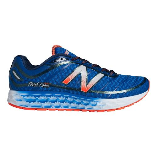 Mens New Balance Fresh Foam Boracay Running Shoe - Blue/Orange 10