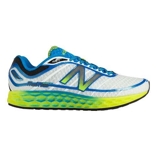 Mens New Balance Fresh Foam Boracay Running Shoe - White/Blue 12.5