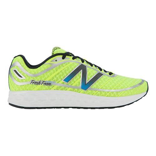 Mens New Balance Fresh Foam Boracay Running Shoe - Yellow/Blue 10.5