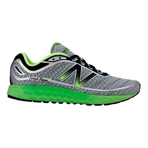 Mens New Balance Fresh Foam Boracay Running Shoe - Grey/Green 9.5