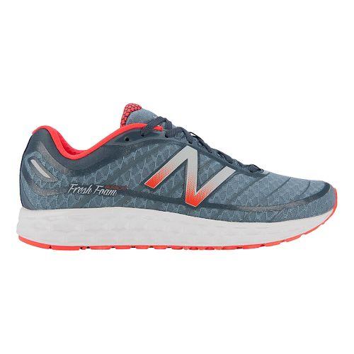 Mens New Balance Fresh Foam Boracay Running Shoe - Blue/Orange 11.5