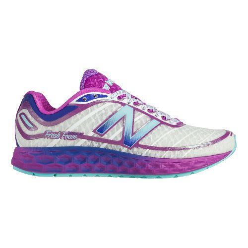 Womens New Balance Fresh Foam Boracay Running Shoe - White/Purple 8.5