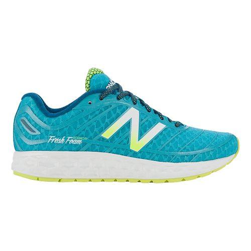 Womens New Balance Fresh Foam Boracay Running Shoe - Teal/Yellow 7