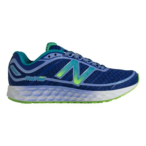 Womens New Balance Fresh Foam Boracay Running Shoe - Blue/Green 5.5