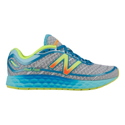Womens New Balance Fresh Foam Boracay Running Shoe - Blue/Yellow 10