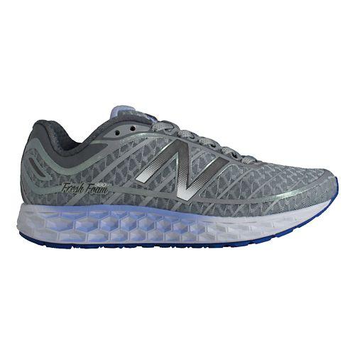Womens New Balance Fresh Foam Boracay Running Shoe - Silver/Purple 6