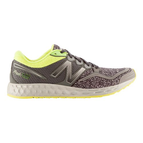 Mens New Balance Fresh Foam Zante Running Shoe - Heather Grey/Yellow 10.5