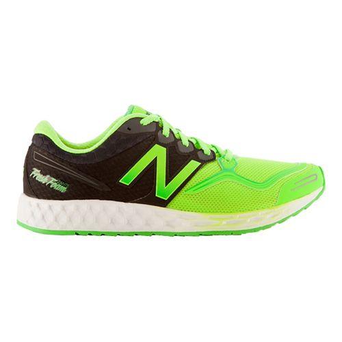 Mens New Balance Fresh Foam Zante Running Shoe - Heather Grey/Yellow 12.5