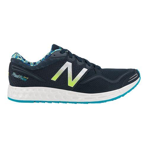 Womens New Balance Fresh Foam Zante Running Shoe - Silver/Navy 10.5