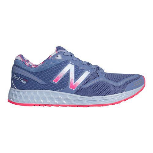Womens New Balance Fresh Foam Zante Running Shoe - Blue/Pink 5